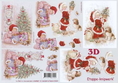 Christmas Child Designs 3d Decoupage Sheet